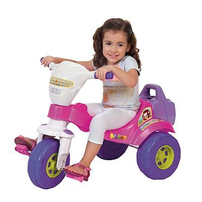 motoca triciclo infantil tico bichos azul rosa magictoys