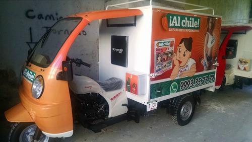 motocarro 2019 caja reparto metalica