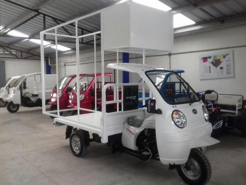 motocarro 2020 con cabina y valla publicitaria