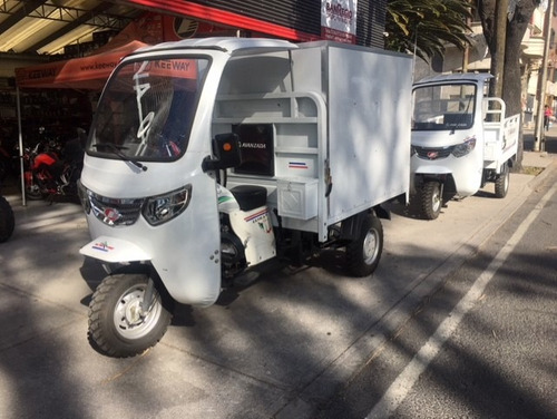 motocarro con cabina camara de reversa y bluetooh
