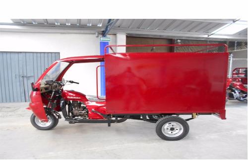 motocarro con cabina y caja cerrada metalica 2018
