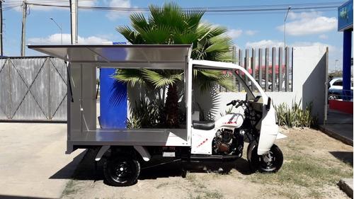 motocarro con cabina y caja cerrada metalica 2019