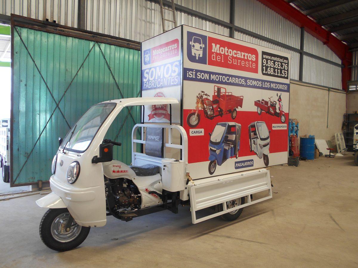 Foto Cabina Mercadolibre : Motocarro con cabina y valla publicitaria en