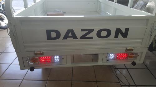 motocarro dazon para carga, garrafonero,con ventilador y led