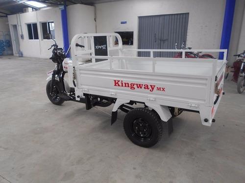 motocarro de carga pick up caja larga 700 kg kingway