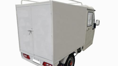 motocarro eléctrico muevetec 2020 cabina y caja cerrada