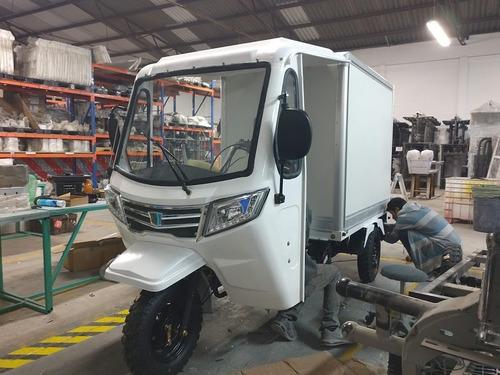 motocarro gasolina nuevo tipo caja cerrada gya8c-xl c/cabina