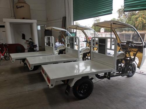 motocarro gasolina nuevo tipo plancha g-ya8 c/cabina, 250cc
