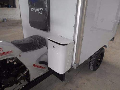 motocarro gran cargo caja seca de 3.54 m3 capacidad y 1 ton