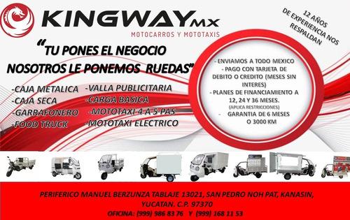 motocarro kingway 1 ton 250cc con cabina 2020