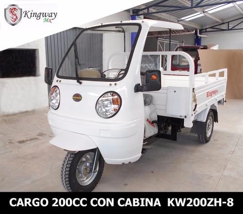motocarro kingway 2019 a 12 meses caja 700 kg con cabina