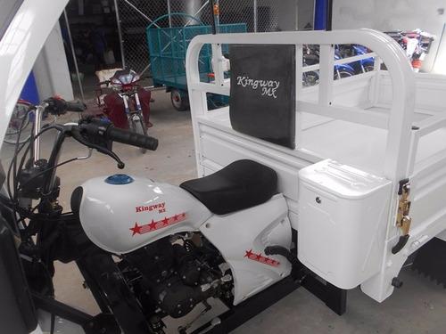 motocarro kingway 2020 con rampa y doble redila con cabina