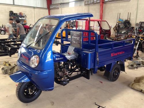 motocarro kingway mx caja larga 700 kg con cabina promo qmk