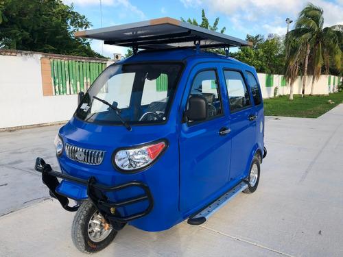 motocarro mototaxi electrico moto con panel solar pasajeros