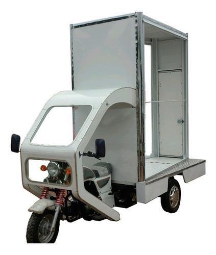 motocarro para publicidad y repartición.