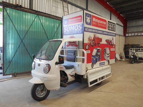 motocarro publicitario 2.50 x 2.00 m con cabina