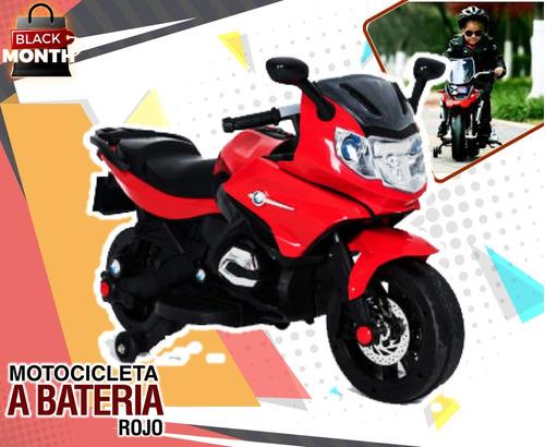 motocicleta a bateria rojo  incluido iva