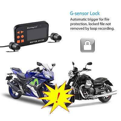 motocicleta bicicleta 1080p hd dual cámara video dvr lcd