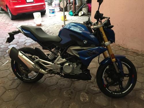 motocicleta bmw g310r 2018 color azul 10,000 km único dueño