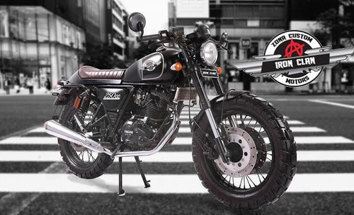 motocicleta cafe racer iron clan legend  negro mate nueva
