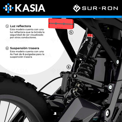 motocicleta electrica su rron light bee x bicicleta