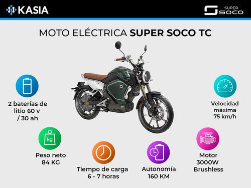 motocicleta electrica super soco tc nueva ahora 12