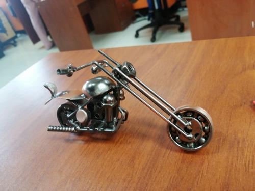 motocicleta en miniatura 100% metal, decorativo