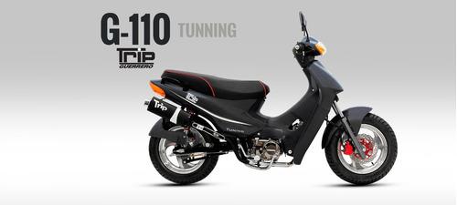 motocicleta guerrero trip 110 tunning