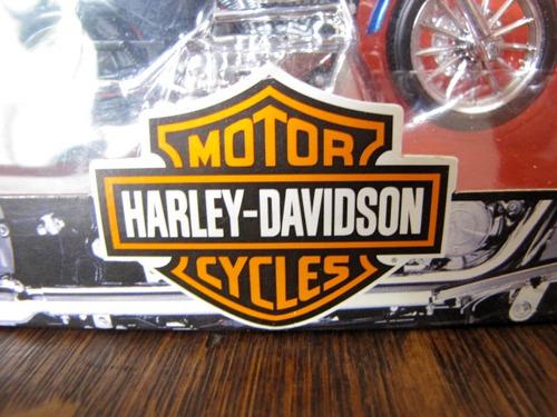 motocicleta harley davidson miniatura com caixa #2274