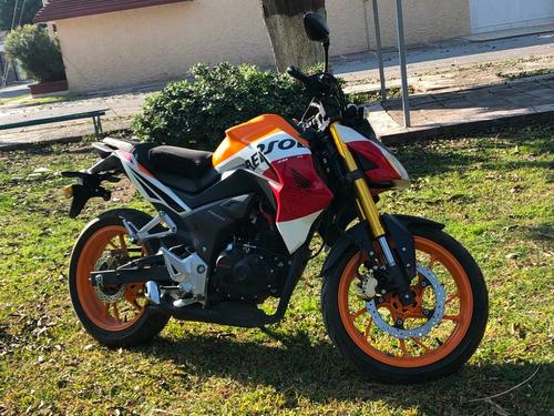 motocicleta honda cb190r repsol 4,212 kms 2016 naked sport