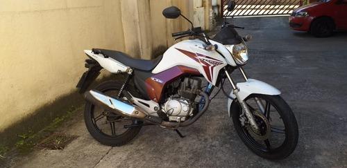 motocicleta honda cg 150ex titan 2013/2014 branca