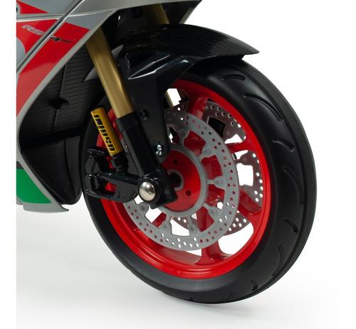 motocicleta infantil motorbike aprilia rsv 12v injusa