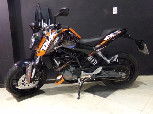motocicleta ktm duke 200 2016 6800km anaranjada