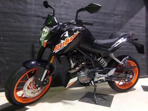 motocicleta ktm duke 200 2020 0km negra