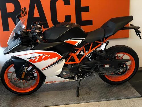 motocicleta ktm rc 200 2020 0km blanca