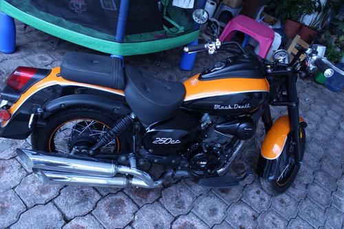 motocicleta mb black devil 250cc
