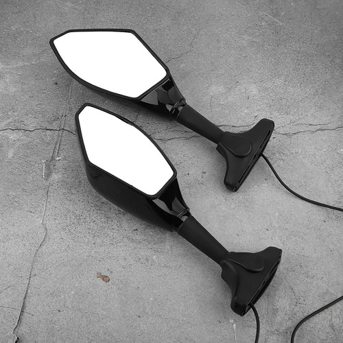 motocicleta retrovisor lateral retrovisor espelho com led tu