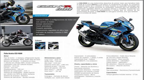 motocicleta suzuki gsx-r600 2019 promoción