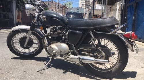 motocicleta triumph inglesa - antiga