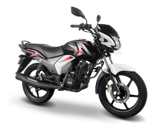 motocicleta tvs stryker 125 blanco