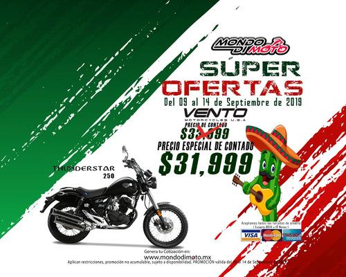 motocicleta vento thunderstar 250 18 pagos con tarjeta$2,078