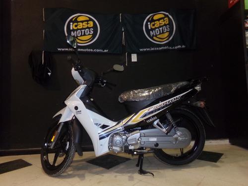 motocicleta yamaha new crypton 110  azul/blanco/rojo