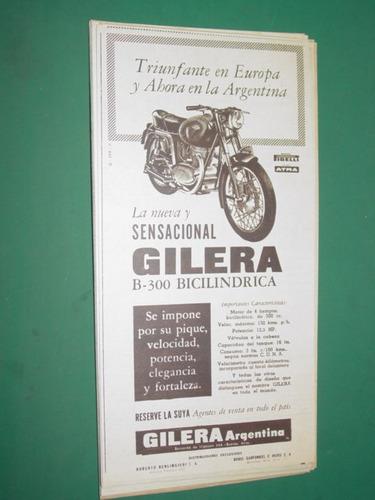motocicletas moto gilera boris garfunkel publicidad mod. 3