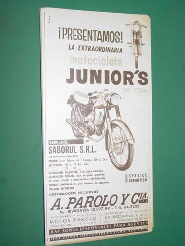 motocicletas moto juniors saborul parolo & cia publicidad