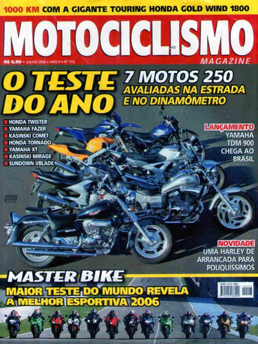 motociclismo 103 * twister * harley * gold wind 1800