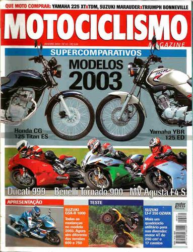 motociclismo 61 * cg 125 titan es * ybr 125 ed * ducati 999