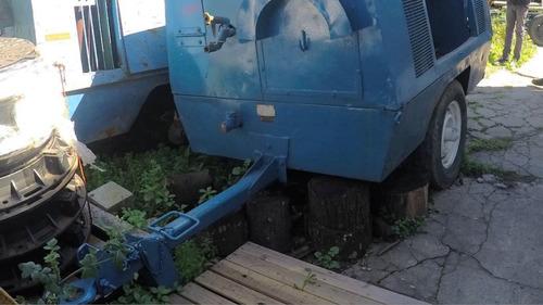 motocompresor de aire sullair 185q de 5m3 sobre trailer