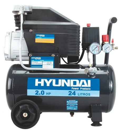 motocompresor (monofasico) hyundai 115psi 2hp 25kg 24l.