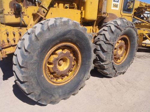 motoconformadora caterpillar 14e con pala top moto niveldora