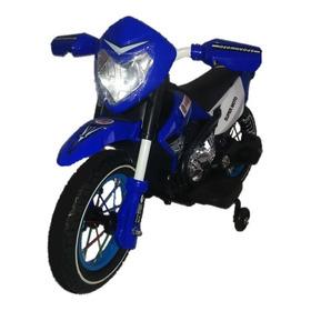 Motocross Bz Azul Moto Elétrica Infantil Com Rodinhas Música